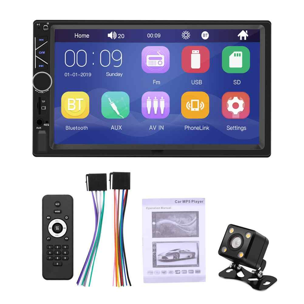 2 喧騒車のマルチメディアプレーヤータッチスクリーンステレオ Bluetooth カーラジオ FM MP5 プレーヤー Android 携帯用ミラー接続