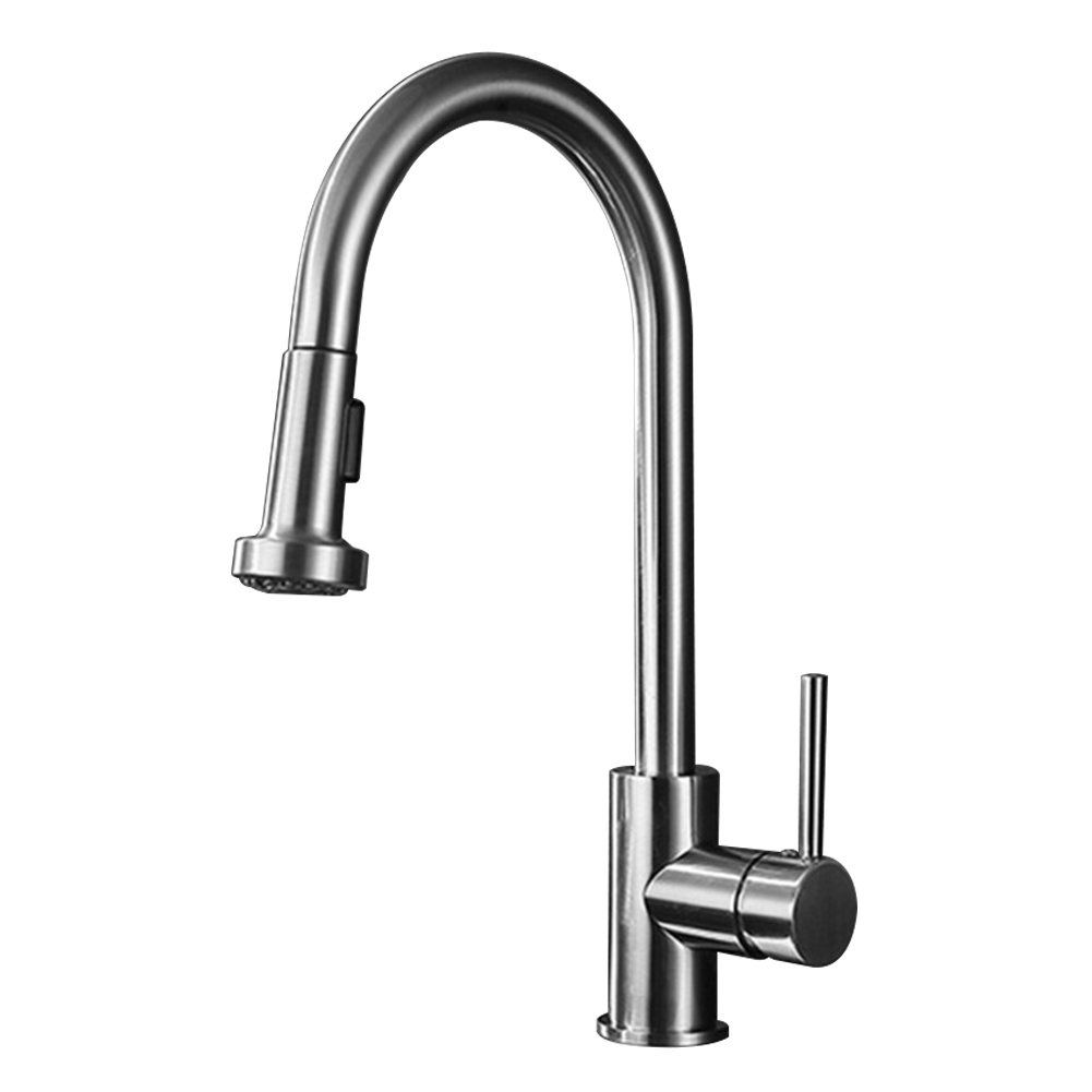 Faucet Basin Easy Install Modern Stainless Steel Fast Open Practical Home Kitchen Anti Corrosion Washing Rustproof Pull Out