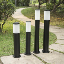 Black LED Lawn Light Outdoor IP65 Waterproof Garden Landscape Lights Community Road Path Decorative Lighting