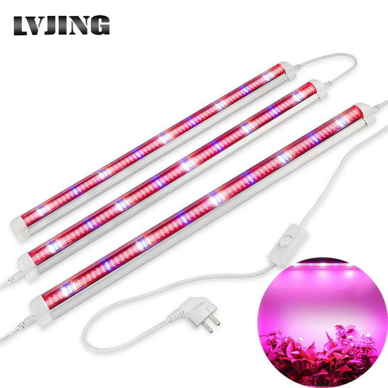 3PCS Red Blue Led Grow Light 60/90/120cm T8 Tube Led Phyto Lamp Strip for Indoor Potted Plants Flower Growth Seed Aquarium Tent