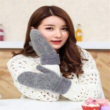 Warm Wool Gloves Mittens Woman New Design Women's Cute Winte