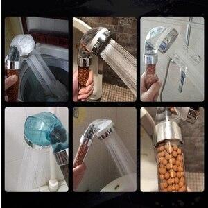 Image 5 - Cabezal de ducha de alta calidad para baño, alcachofa de ducha de alta presión con bolas de filtro de ahorro de agua, cabezal de utilidad con iones negativos activados