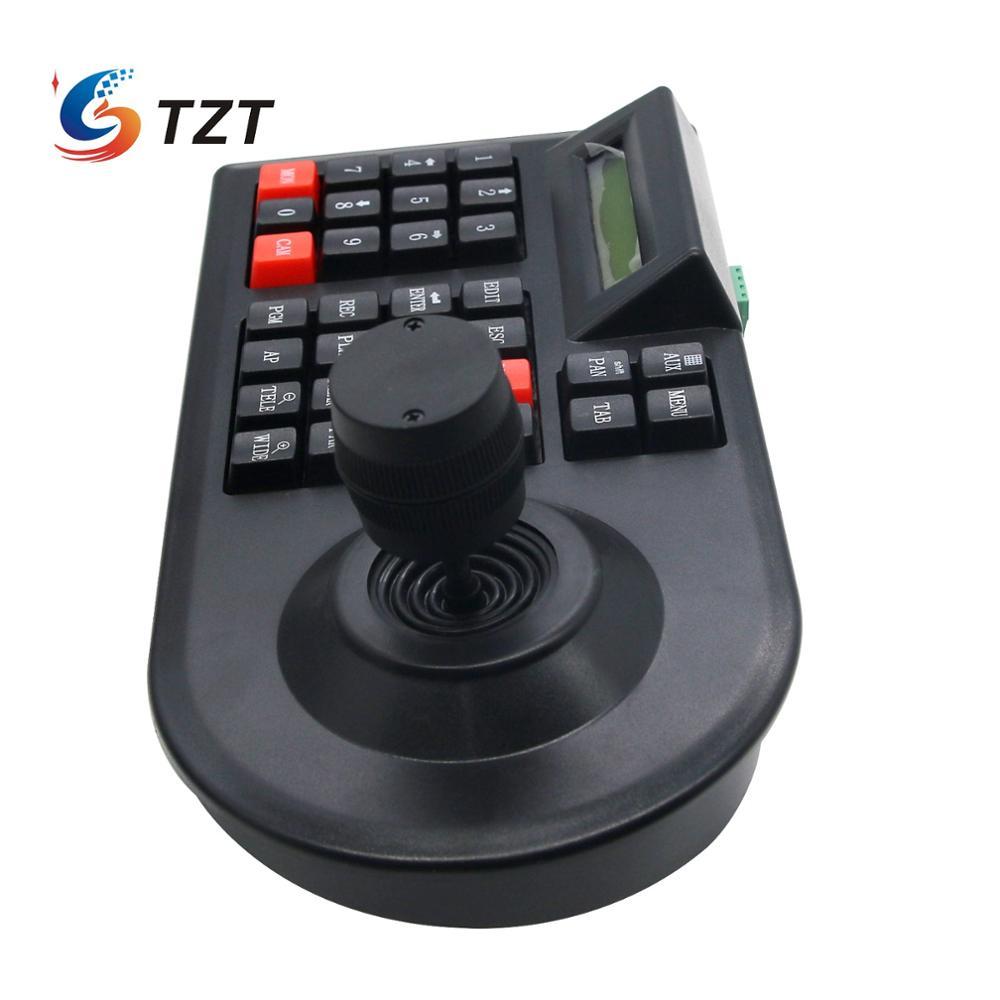 Image 4 - TZT 3D PTZ контроллер клавиатура для систем видеонаблюдения джойстик для RS485 PTZ скоростная купольная камера кронштейн поддержка Pelco D / P протокол 3 осиГолосовые модули распознавания/управления    АлиЭкспресс