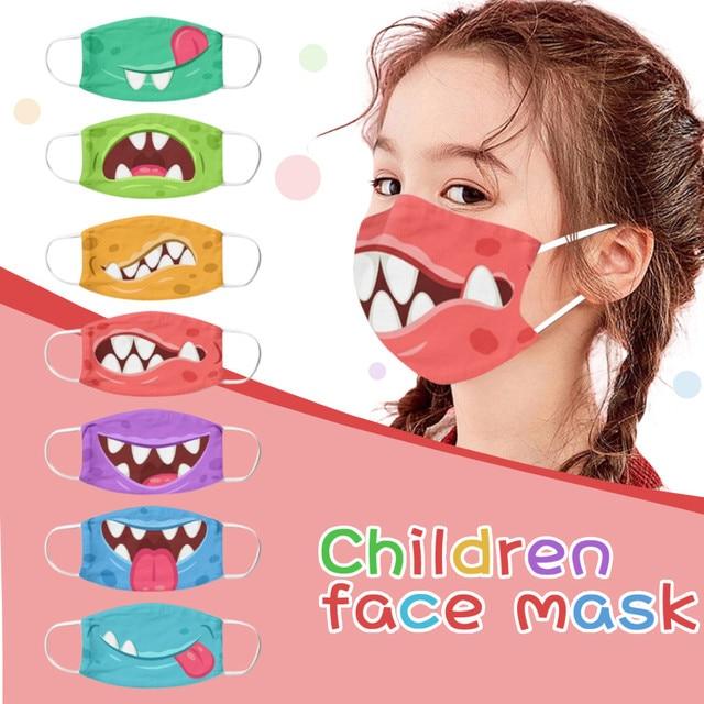 1PC Kids Children Outdoor Cotton Mouth Masks Washable Reusable Face Outdoor Desechables veilScarf Flag Bandana Drop-shipping#3 1
