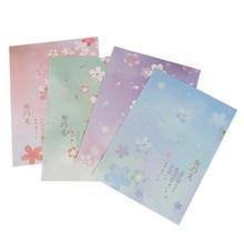 3 конверта + 6 бумажных букв kawaii Фламинго КИТ креативные