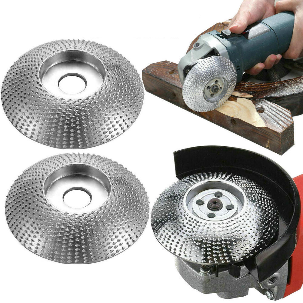 Abrasive Tool Wood Grinding Wheel Rotary Disc Sanding Wood Carving Tool Abrasive Disc Tools For Angle Grinder 4inch Bore Carving