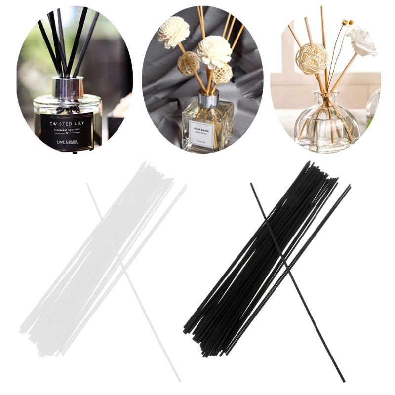 50Pcs 30cmx3mm Fiber Sticks Diffuser Aromatherapy Volatile Rod For Home Fragrance Diffuser Home Decoration 4XFB