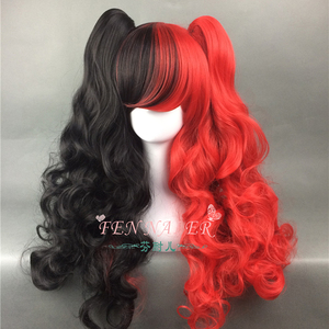 Lolita Black Red Cosplay Wig L