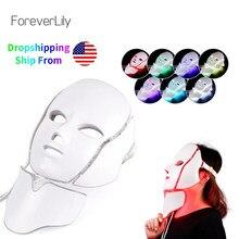 VIP LINK – Masque facial en led, livraison directe, dispositif de thérapie photonique à 7 couleurs, pour la peau, pour un rajeunissement cutané, rétrécit les pores