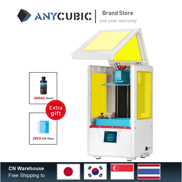 2019 Anycubic Photon S Resin 3D Printer Plus Size SLA/LCD High Precision Light Curing Impresora 3d Kits 3d printer upgrade