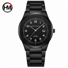 Watch Men Top Luxury Brand Sports Calendar Display Black Pilot Watch Business Waterproof Creative Wristwatch Relogio Masculino