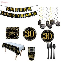 30 40 50 60 Years Birthday Party Decorations Kit Cheers to 30th 40th 50th 60th Banner Old Kids Adult