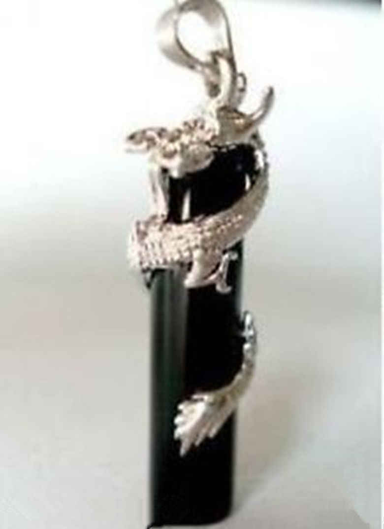 FREE shipping> >>>>Stunning black stone dragon Jewelry Pendant/Necklace