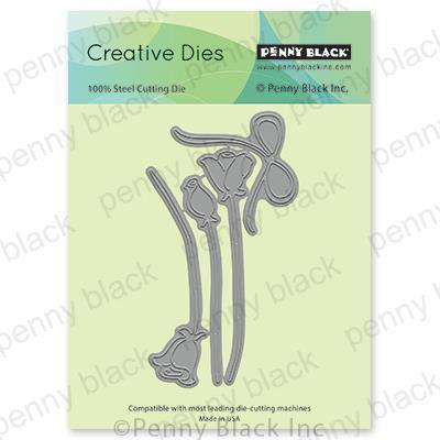 Metal Cutting Dies Tulip Flower Cut Die Mold Decoration Scrapbook Paper Craft Knife Mould Blade Punch Stencils Die