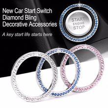 Auto Starten Schalter Taste Dekorative Diamant Ring für Toyota Auris Corolla Avensis Verso Yaris Aygo Scion TC IM