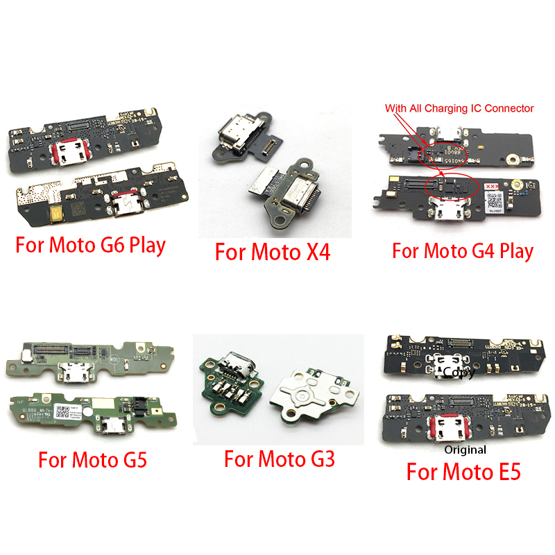 10Pcs/Lot,Charger Board PCB Flex For Motorola Moto G4 G5 G6 Play G3 X4 E5 USB Port Connector Dock Charging Ribbon Cable