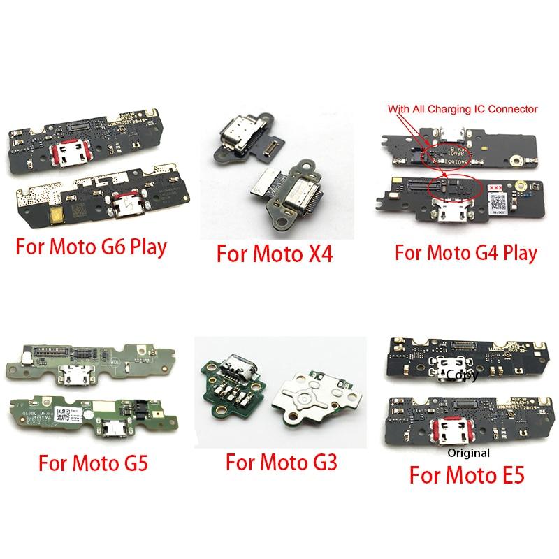 10Pcs/Lot,Charger Board PCB Flex For Motorola Moto G4 G5 G6 Play G3 X4 E5 USB Port Connector Dock Charging Ribbon Cable