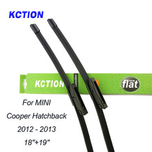 Car Windshield Wiper Blade For Mini Cooper Hatchback(2012-2013), 18+19, Natural rubber, Bracketless, Accessories