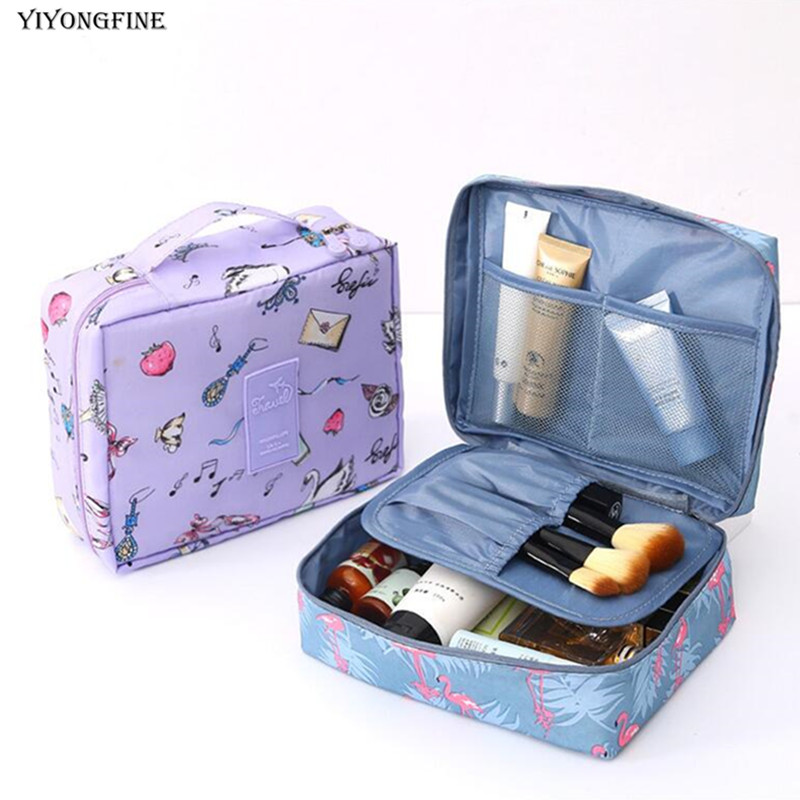 New Nylon Women Cosmetic Bag, Multifunction Makeup Bag, Grooming Kit, Beauty Case, Toiletries Organizer, Travel Make Up Cases