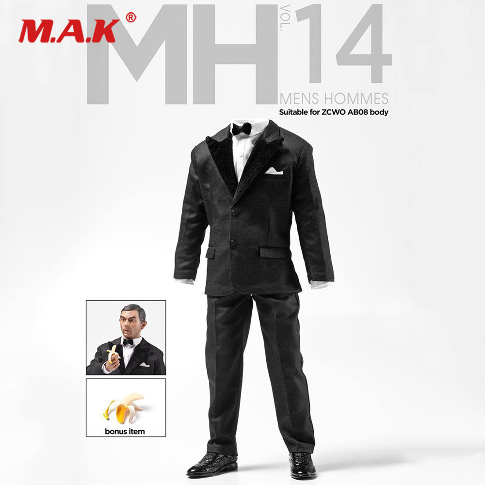MH14 1/6 Scale Figure Clothes Accessory Model Gentleman Suit Mens Hommes Special Suit Agent <font><b>Mr</b></font>. <font><b>Bean</b></font> <font><b>Costume</b></font> for 12'' Body image