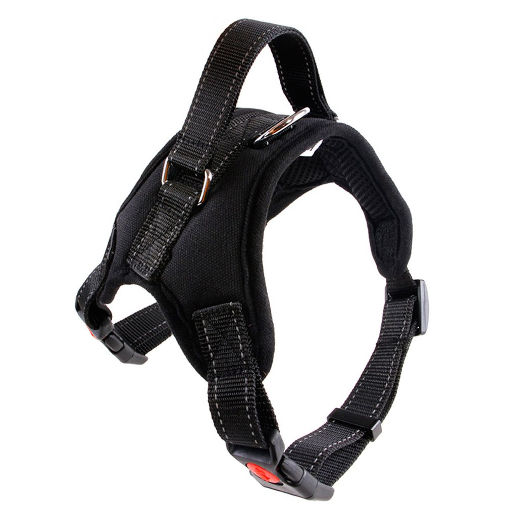 Nylon Dogs Harness Collar Large Medium Small Dog Explosion-proof Traction Rope Rushed Harnesses Vest Walk Pet Dogs Supplies
