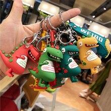 цена HOT Fashion Cute Dinosaur Keychain Key Ring Cartoon animal Key Chain Car Bag pendant Key Ring gifts for girls онлайн в 2017 году