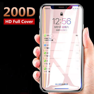 200D Curved Tempered Glass For iPhone 11 Pro Max Protective Glass on the For iPhone X XS Max XR 6 6s 7 8 Plus Screen Protector