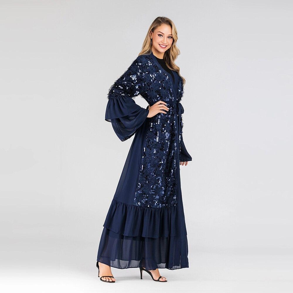 Abaya Dubai Hijab Dresses Abayas For Women dress sequins Cardigan Muslim fashion Caftan Islam Clothing