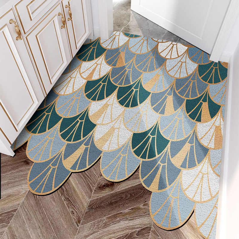 tapis de sol en pvc interieur et exterieur interieur et exterieur pour porte d entree boucle en soie personnalisee motif geometrique decoupe