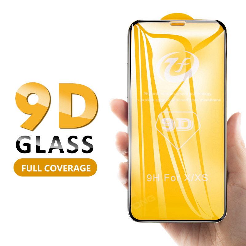 Phone 11 Pro Max 9D Full Cover Tempered Glass For IPhone 11 Pro Max 2019 Screen Protector For IPhone XS MAX XR X Protective Film