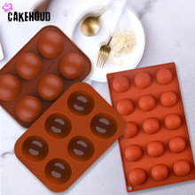 Half Sphere Silicone Soap Molds Bakeware Cake Decorating Tools Pudding Jelly Chocolate Fondant Mould Ball Shape Baking Mold