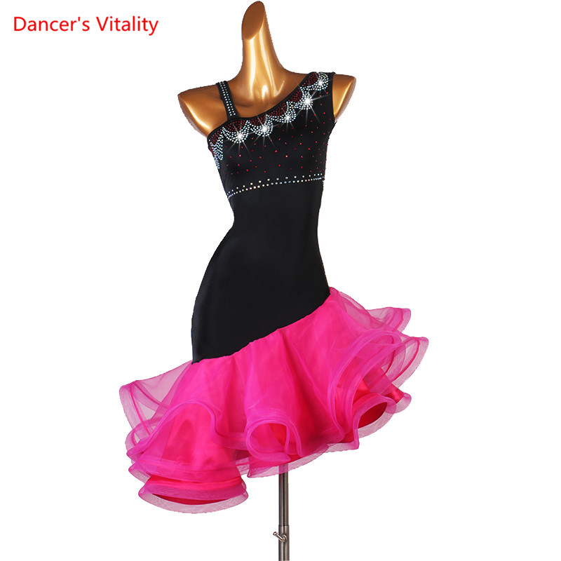 Latin Dance Costume Women Custom Made Practice Clothes Latin Competition Dress Professional Tango Performance Costume