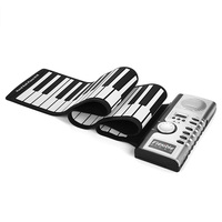 Roll Up Piano, Portable 61 Keys Electronic Keyboard Hand Roll for Children Kids Beginners