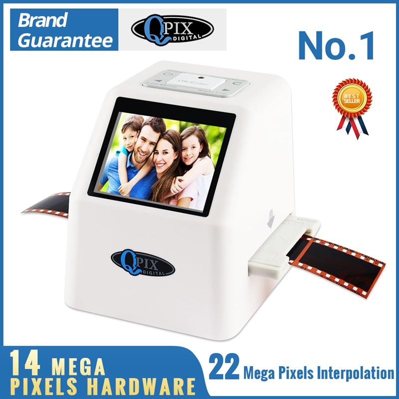 High Resolution 22 MP 110 135 126KPK Super 8 Negative Photo Scanner 35mm Slide Film Scanner Digital Film Converter 2.4LCD