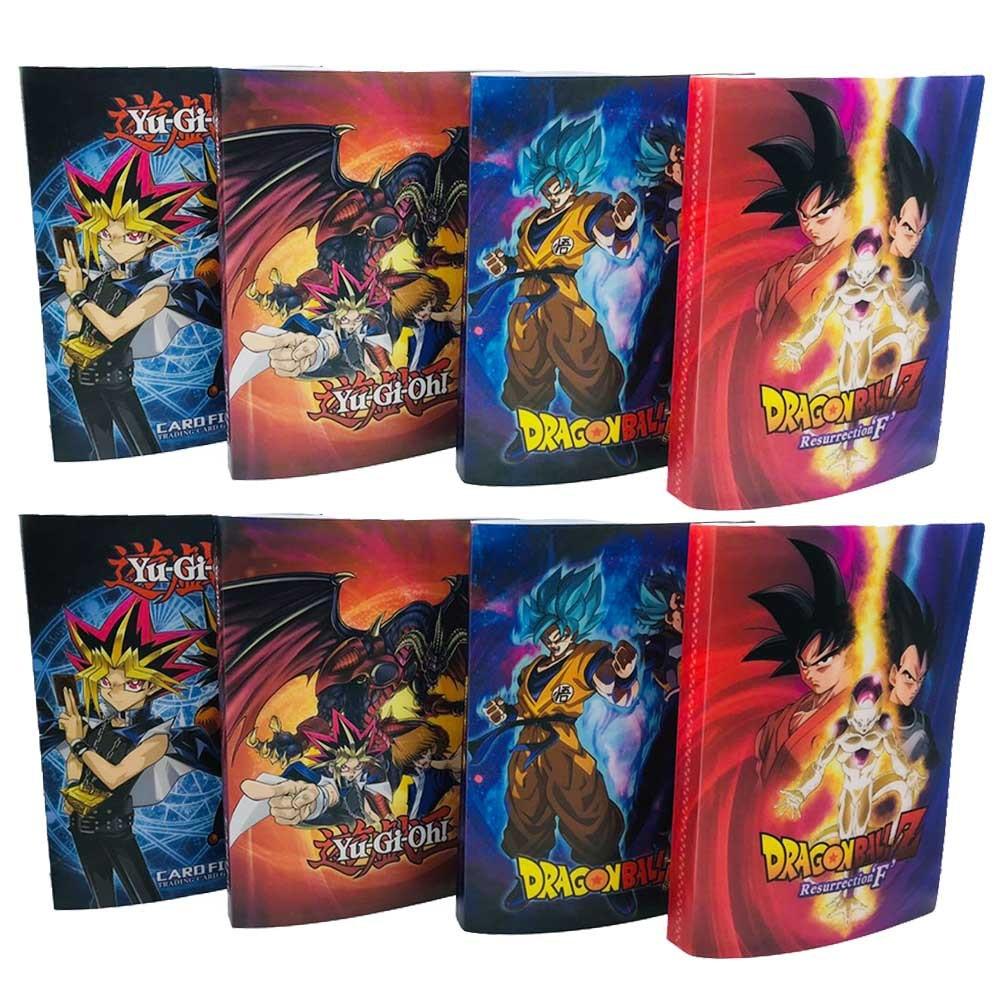 240pcs Holder Album Toys Collections Dragon Ball Goku Saiyan Cards Yu-Gi-Oh! Album Book Top Loaded List Toys Gift For Children