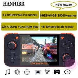 Nuevos juegos Retro ANBERNIC RG350 IPS RG350 videojuegos consola de juegos de actualización ps1 juego 64bit opendingux 3,5 pulgadas 15000 + juegos rg350