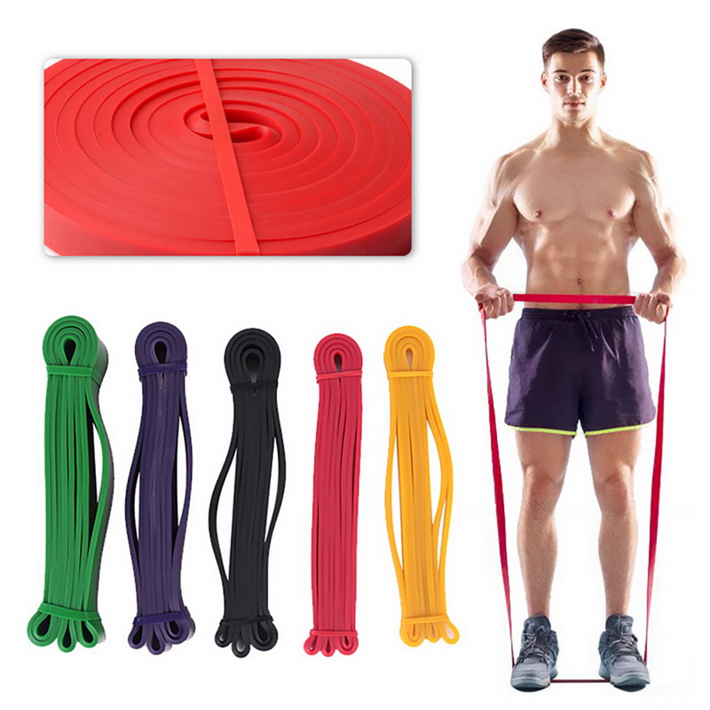 4.5cm Width Gym Premium Latex Pull Up Body Bands CrossFit Loop Resistance Band 50 To 125 Pounds Of Resistance Band