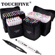 Маркеры спиртовые touchfive 36/60/80/168 цветов двусторонние