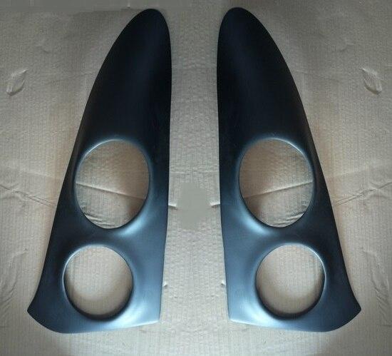 Неокрашенные стеклопластиковые фары брови реснички на фары для 2003-2006 Smart roadster