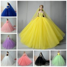 Doll Clothes for 1/6 BJD SD Beauty Doll Formal Dress Fashion Design Dolls Accessories Princess Wedding Dress Toys Doll Clothes(China)