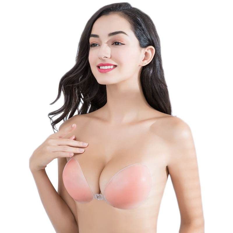 Silicone Bra Invisible Push Up Sexy Strapless Bra Stealth Adhesive Backless Breast Enhancer For Women Sticky Wedding Bikini Bras