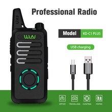 WLN KD-C1 Plus Mini Walkie Talkie UHF 400-470 MHz Handheld Two Way Radio 16 Channels Communicator 5W KDC1 PLUS FM Transceiver