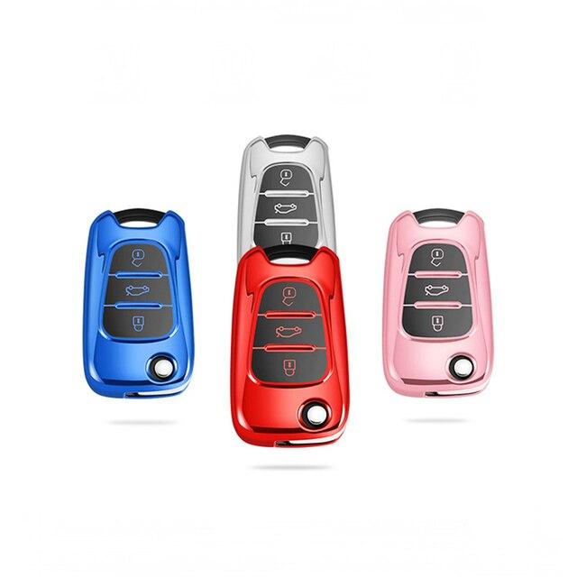 Chave capa nova tpu para hyundai i20 i30 i40 ix25 creta ix35 hb20 solaris elantra acento para kia k2 k5 rio sportage caso chave do carro 5