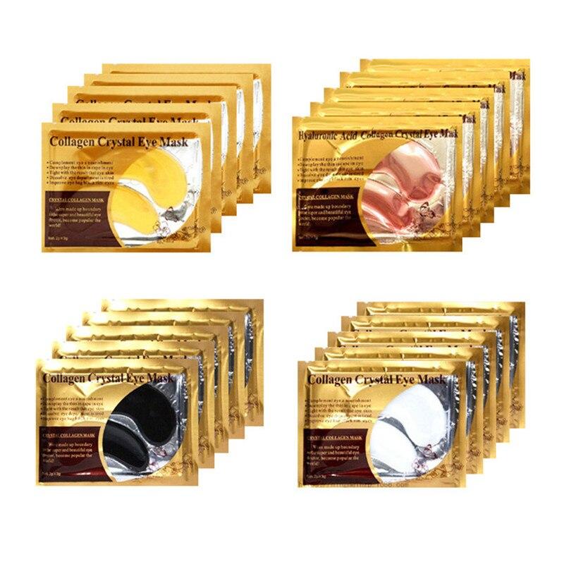 20Pairs Gold Collagen Crystal Eye Mask Anti Wrinkle Eye Patches Moisturizing Nourishing Anti Aging Eye Care Combination