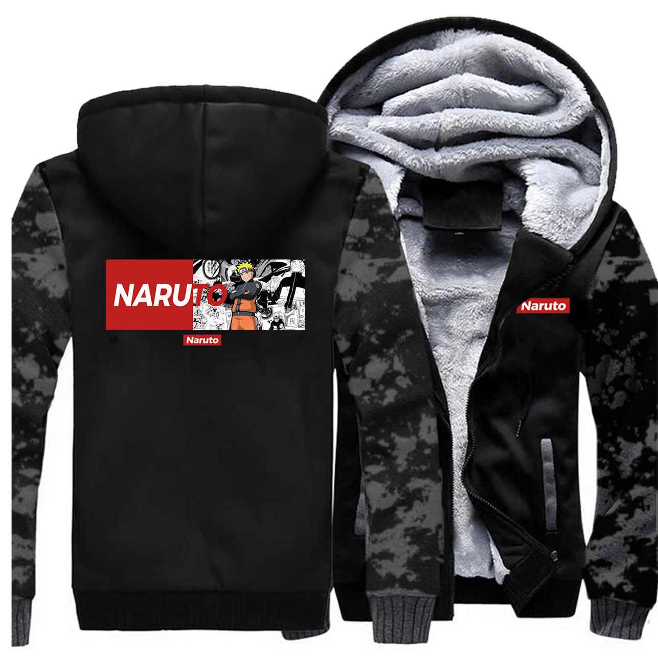 ナルト Boruto 男性コートうちはイタチうずまきサスケ我愛羅迷彩パーカー秋の日本アニメヒップホッププラスサイズストリート