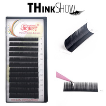 All Size Russia Lashes B/C/CC/D Curl Eyelash Extension Soft Fake Eyelashes Natural Volume Faux Mink Lashes Extension For Make Up genie shadow lashes individual lashes double curl and length faux mink fit for volume eyelash extension make up eye lashes