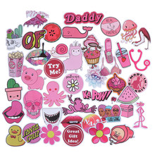 50Pcs PVC Waterproof Girls Kawaii Pink Fun Sticker Toys Luggage Stickers for Motor Car & Suitcase Fashion Laptop Decals Stickers(China)