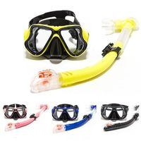2019 HISEA Goggles breathing tube set silicone diving mask anti fog HD adult diving equipment