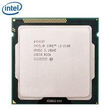 Processeur Intel Core i3-2100 i3 2100, Cache 3M, 3.1GHz, LGA 1155, 65W, pour ordinateur de bureau, CPU, fonctionne correctement, 100%