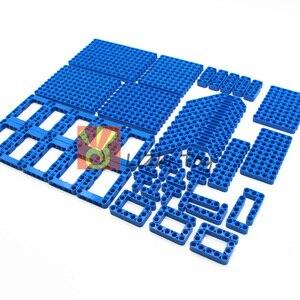 Image 5 - 120 шт., технические детали, 6 цветов, Liftarm, толстые строительные блоки, набор аксессуаров, механический луч, основная часть, DIY игрушки для детей